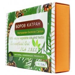 Натурален Билков Сапун - Боров Катран За лице и тяло с етерично масло Чаено Дърво
